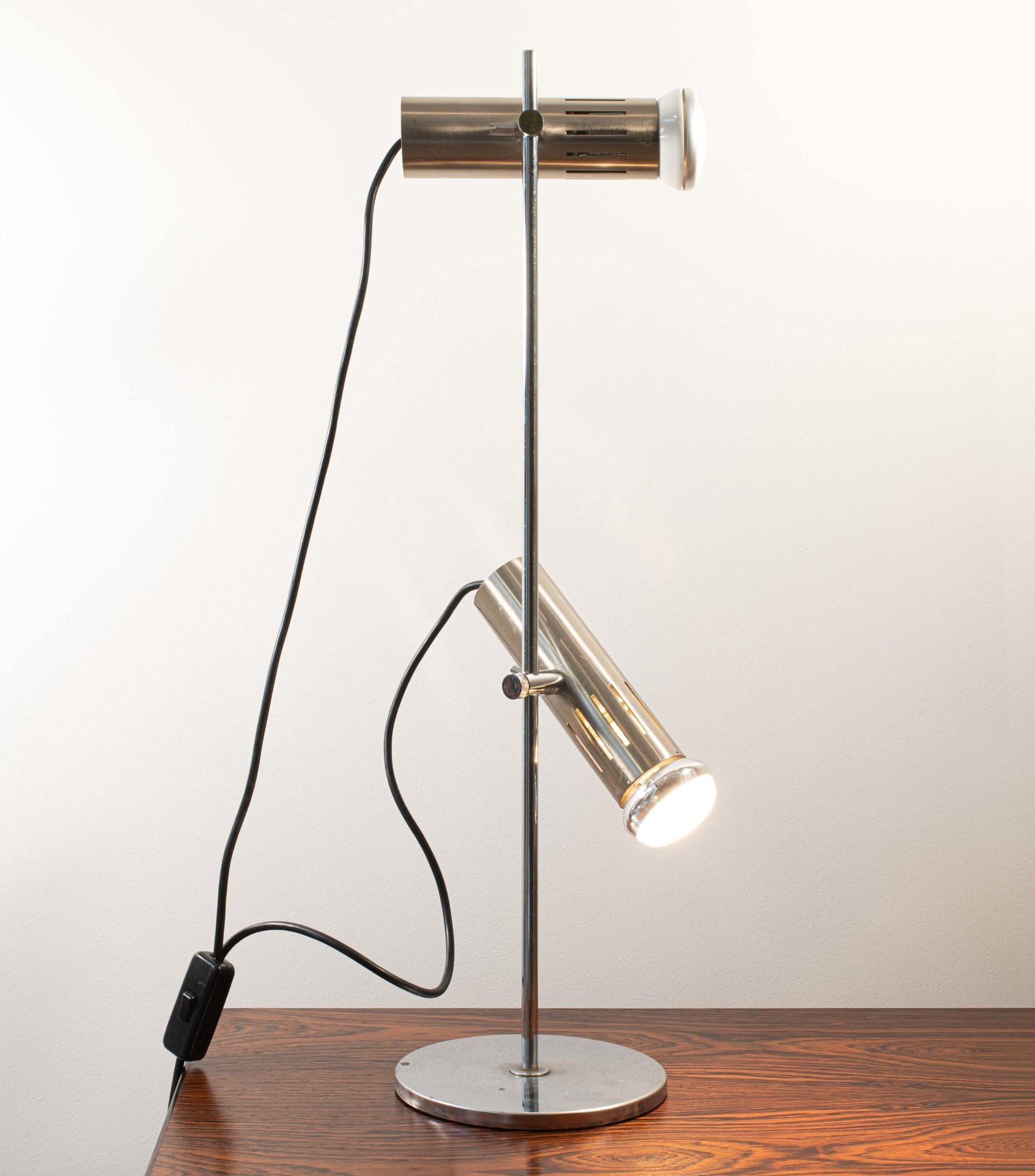 Alain Richard pour Disderot lampe de bureau modèle A4 base métal double spot