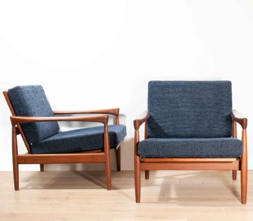 fauteuils Kai Kristiansen design danois 50's