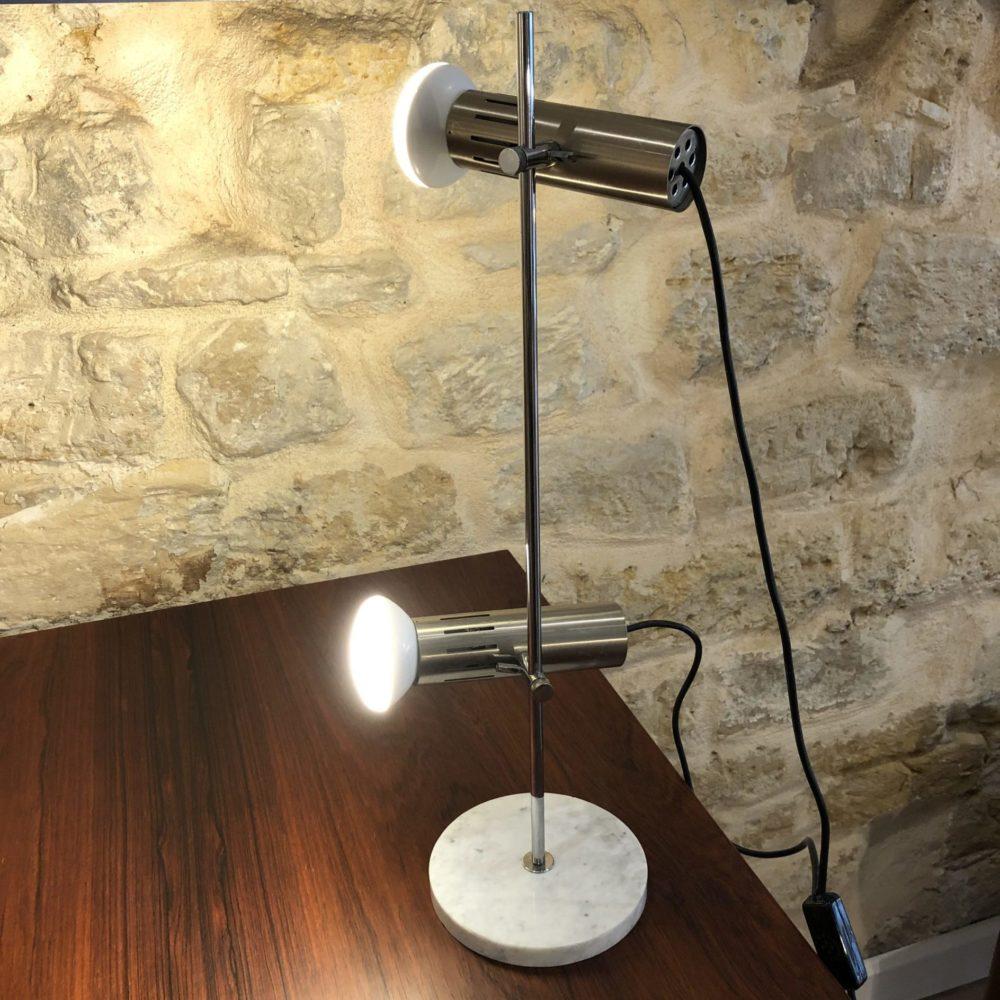 Alain Richard pour Disderot lampe de table modèle A4 base marbre double spot